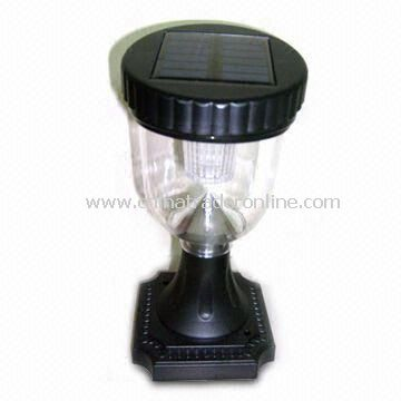 Solar Table Lamp, Customized Requests Welcomed, Made of Plastic + Solar Battery Panel