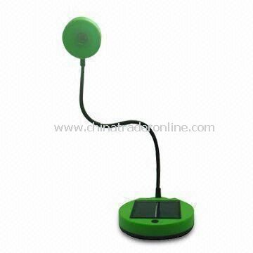 Solar Table Lamp, Made of Plastic Material, Available in Customers Acceptable