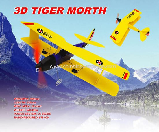 Electric RC plane model 3D Tiger Morth