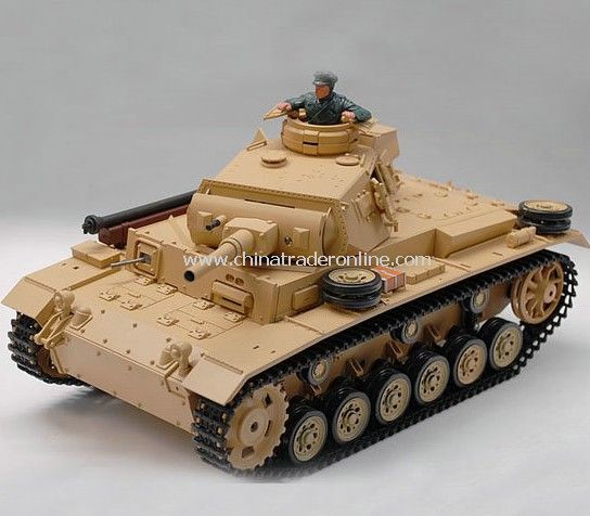 1:16 TauchPanzer III Ausf.H Real RC Smoking Battle Tank with Sound