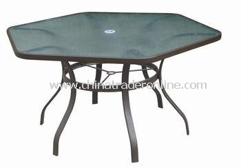 Casual Furniture Hexagonal Outdoor Dining Table