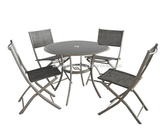 Garden Furniture 5pc Folding Dining Set