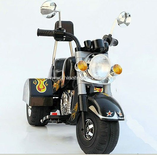 Harley Davidson-Style Battery Operated Ride-On Motorbike (Ages 3-7)