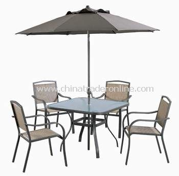 Opp Patio Furniture 6pc Outdoor Sling Folding Dining Sets