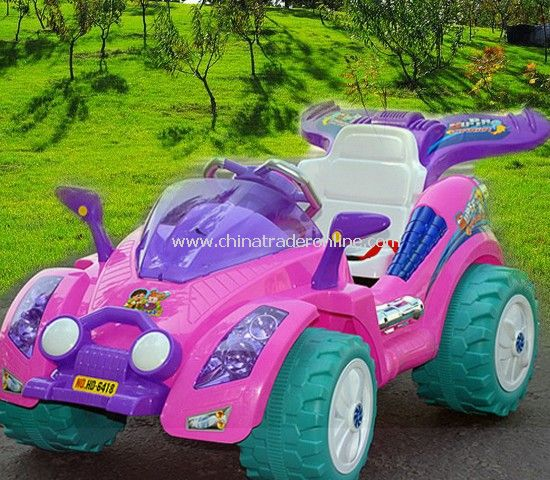 Pink Kids Ride on Car Battery Powered Phantom Racer Truck w/ Remote Control