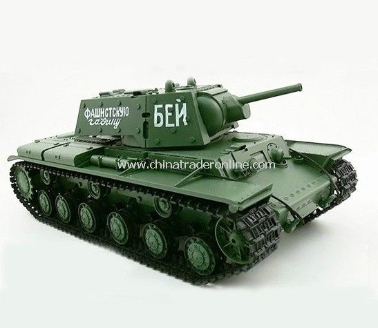 1:16 Russian KV-1s Ehkranami Airsoft RC Battle Tank Sound & Smoking