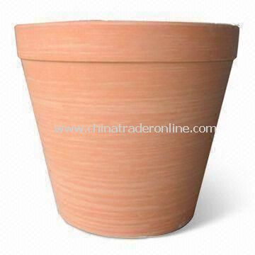 10-inch Biodegradable Garden Planter, Made of Plant Fiber, Patented, Available in Various Colors