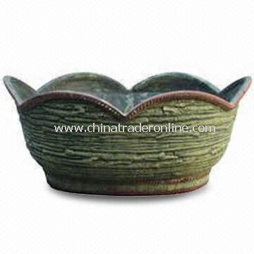 12-inch Fiber-clay Garden Pot with Mixed Material, Eco-friendly, Available in Various Specifications