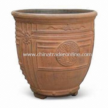 13-inch Plastic Garden Planter of Blow Molding, Heat-resistant, Eco-friendly and Durable