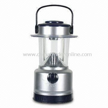 18 LED Camping Lantern with Dry Battery Power Source, and Made of ABS