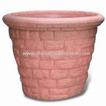20-inch Plastic Garden Pot of Blow Molding, Eco-friendly and Heat-resistant