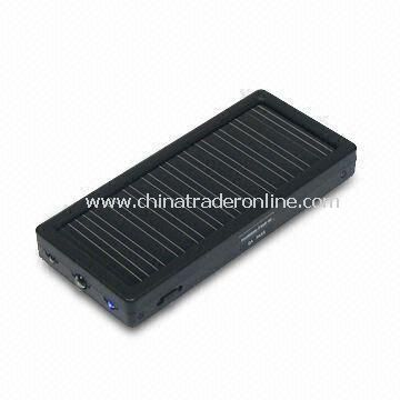 3-in-1 Solar Charger, Suitable for Outdoor Trip, with Li-Polymer Backup Battery Station