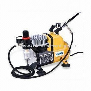 Airbrush Compressor, with Air Pressure Gauge, Air Filter and Adjustable Pressure