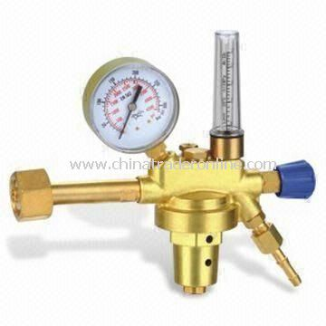 Argon and Co2 Flow Regulator, Inlet Protected by Sintered Bronze Filter
