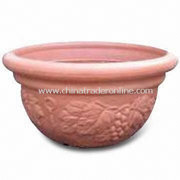 Blow Molding 16-inch Garden Pot, Durable, Eco-friendly, Made of 100% Plastic