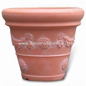 Blow Molding Garden Pot, Made of 100% Plastic, Eco-friendly, Durable from China