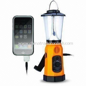 Camping Lantern with FM Radio, Mobile Phone Charger and Siren Functions