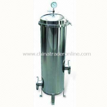Cartridge Filter Housing with Stainless Steel Lid and 0.6MPa Pressure