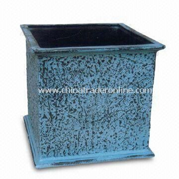 Cast Aluminum Planter for Home, Garden and Office Decoration