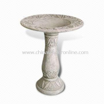 Classical Bird Bath, Made of Fiberglass, Suitable for Garden