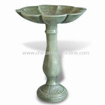 Classical Bird Bath, Made of Fiberglass, Suitable for Patio Decorations