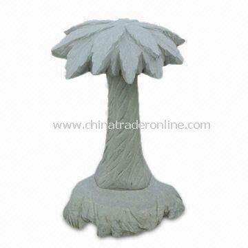 Decorative Stone, Coconut Tree or Palm Shapes, Made of Sandstone, Suitable for Garden