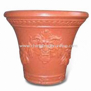 Durable 16-inch Plastic Garden Planter of Blow Molding, Eco-friendly and Heat-resistant