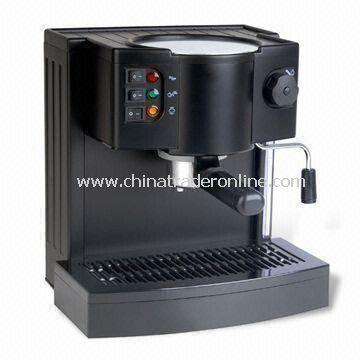 Espresso Coffee Maker with 15bar Pump Pressure and 1- or 2-cup Powder Filters