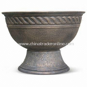 Fiber-clay Heat-resistant Garden Urn Planter with Mixed Material, Available in Various Sizes