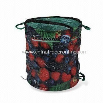 Garden Bag with Printing, Made of 110g/m2 PE