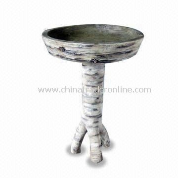Garden Bird Bath with 20.5-inch Height, Made of Fiberglass