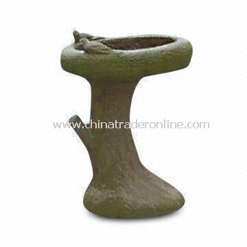 Garden Bird Bathing Basin, Made of Granite, Available in Various Colors and Sizes