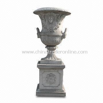 Garden Planters Flowerpot, Made of Natural, Marble, Sandstone, Granite and Limestone from China