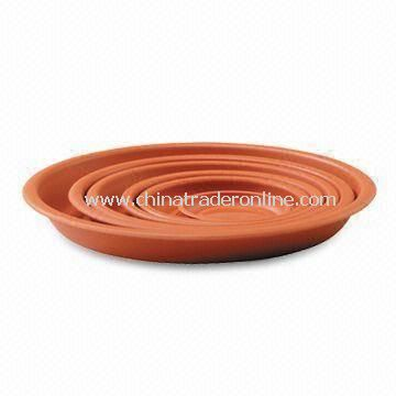 Gardening Pots Saucers with UV Stabilizer, Available in Brown