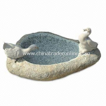 Granite Bird Bath, Customized Colors and Sizes are Accepted