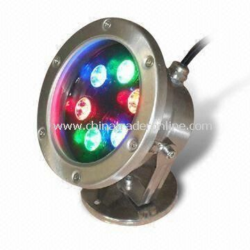 LED Underwater Light with 6W and IP68 IP Rating, for Garden, Swimming Pool and Pond