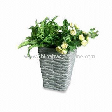 Lightweight Classical Garden Planter, Made of Fiberclay, Comes in Various Designs