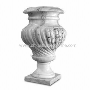 Marble Flower Pot Planters, Supply a Lot Stone Vases and Urns, Suitable for Indoor , Outdoor Garden