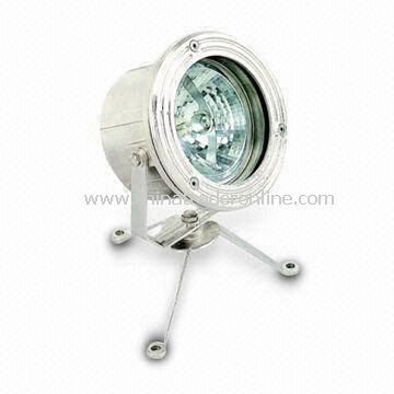 Pond Spotlight with PAR-56 Lamp Holder, Made of 304 Stainless Steel Trim Material