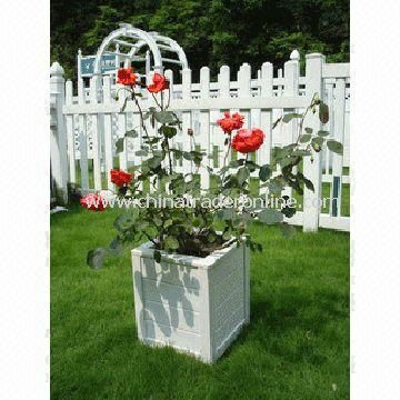 PVC Planter Box, Made of 100% Virgin, UV and Weather-resistant from China