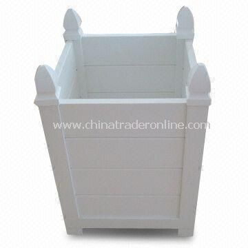 PVC Planter Box, Made of 100% Virgin Material, UV and Weather Resistance