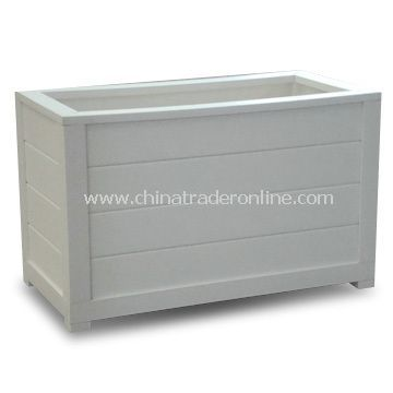 PVC Planter Box, Made of 100% Virgin Material, UV and Weather-resistant