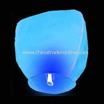 Sky Lantern with Solid Wax Fuel Cell, Available in Various Colors, Made of Flame-resistant Paper