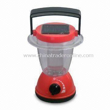 Solar Camping Lantern, Made of ABS Material, with 4 to 5 Hours Operating Time