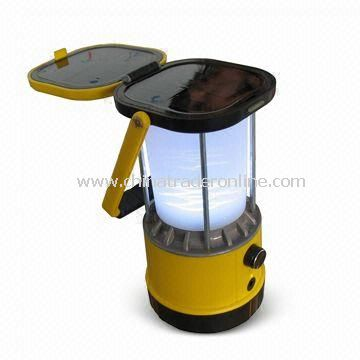 Solar Lantern with Super-bright LED, Ni-MH Battery Type, 100,000 Hours Lifespan
