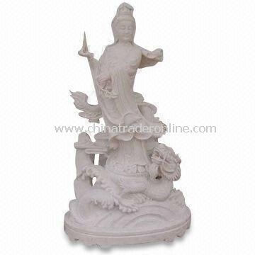 Stone Buddha Sculpture, Suitable for Garden Decoration, Made of Natural Solid Marble