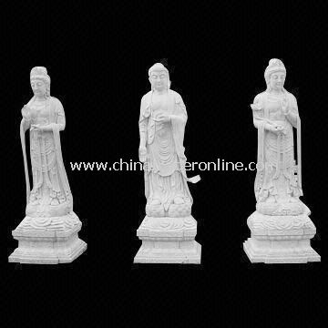Stone Buddha Statue, Made of Granite and Limestone, Suitable for Garden Decoration