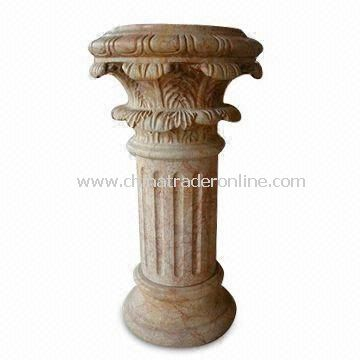 Stone Pedestal Carving, Used for Garden Decorations