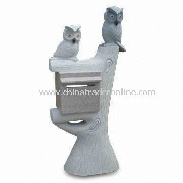 Stone Post Box for Garden Decoration, Various Sizes are Available