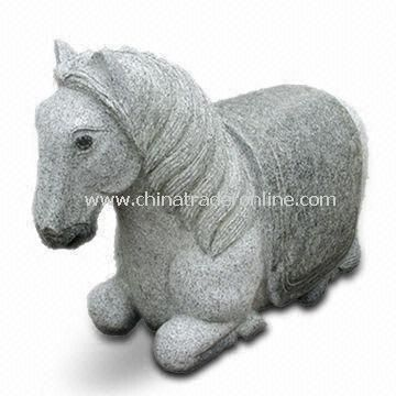 Stone Stool in Horse Shape, Made of G389 Material, Suitable for Garden Decoration from China